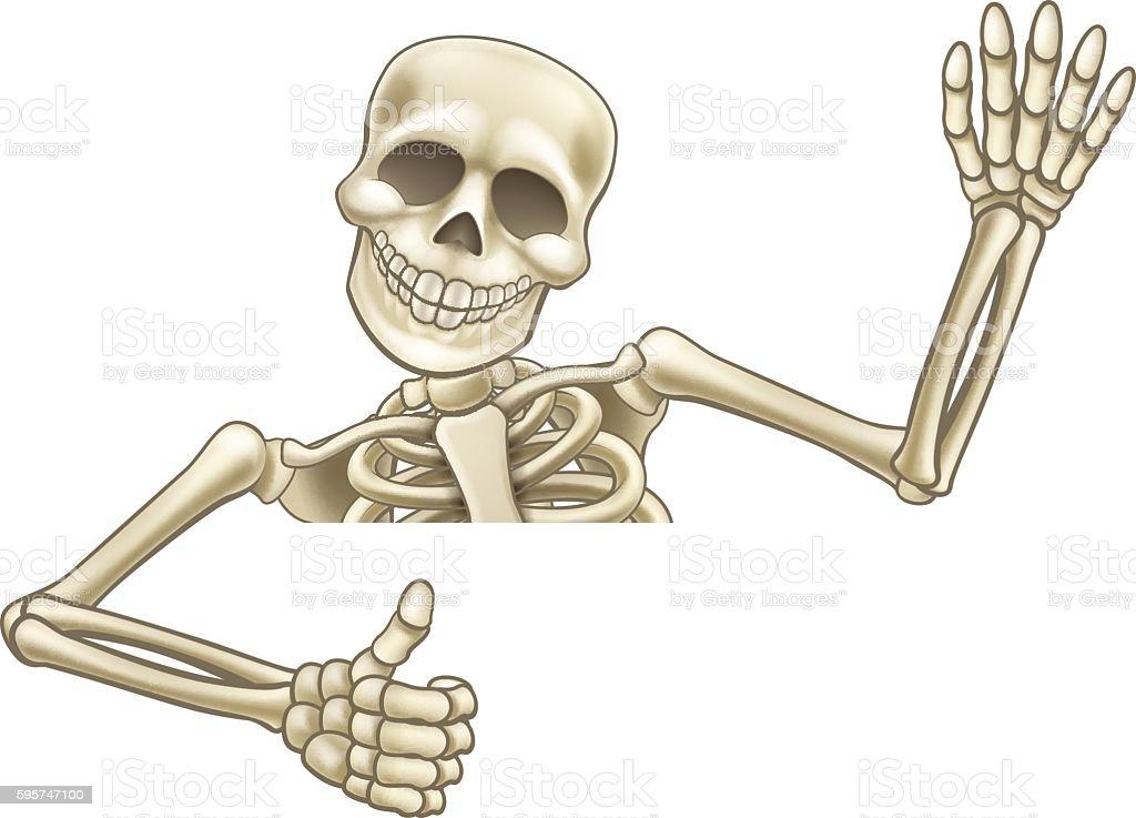 Halloween Skeleton.Thumbs Up Cartoon Halloween Skeleton Stock Illustration Download Image Now