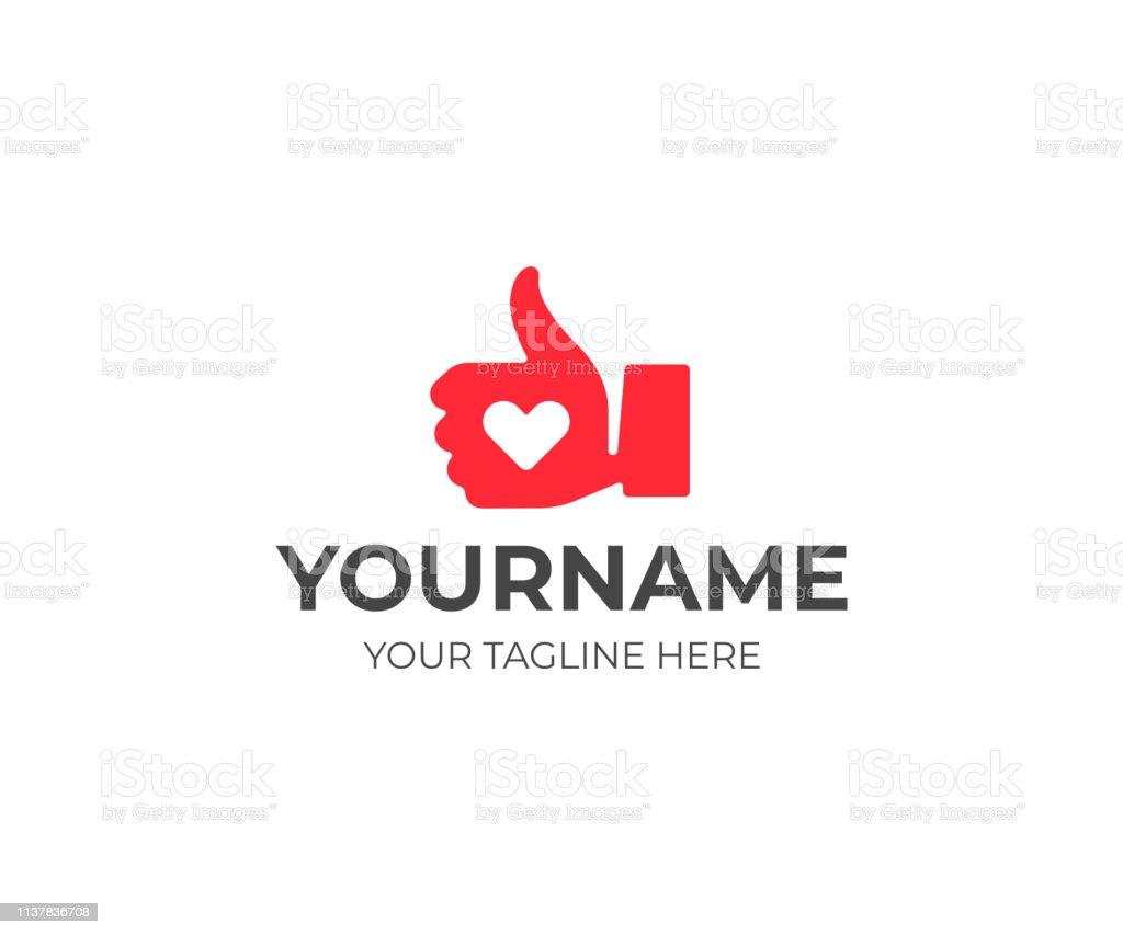 Thumbs up hand design. Like button vector design. Social media like...