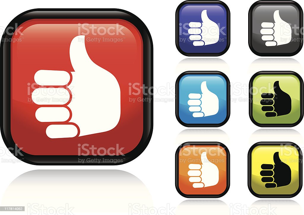 Thumbs Up Icon royalty-free stock vector art