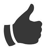 Vector of Thumbs Up Icon