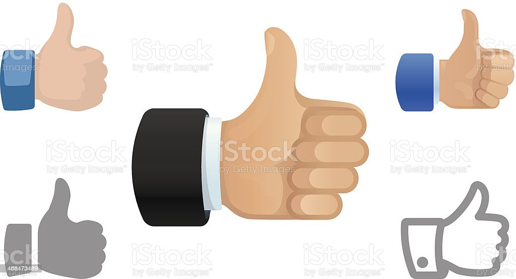 Thumbs Up icons vector art illustration