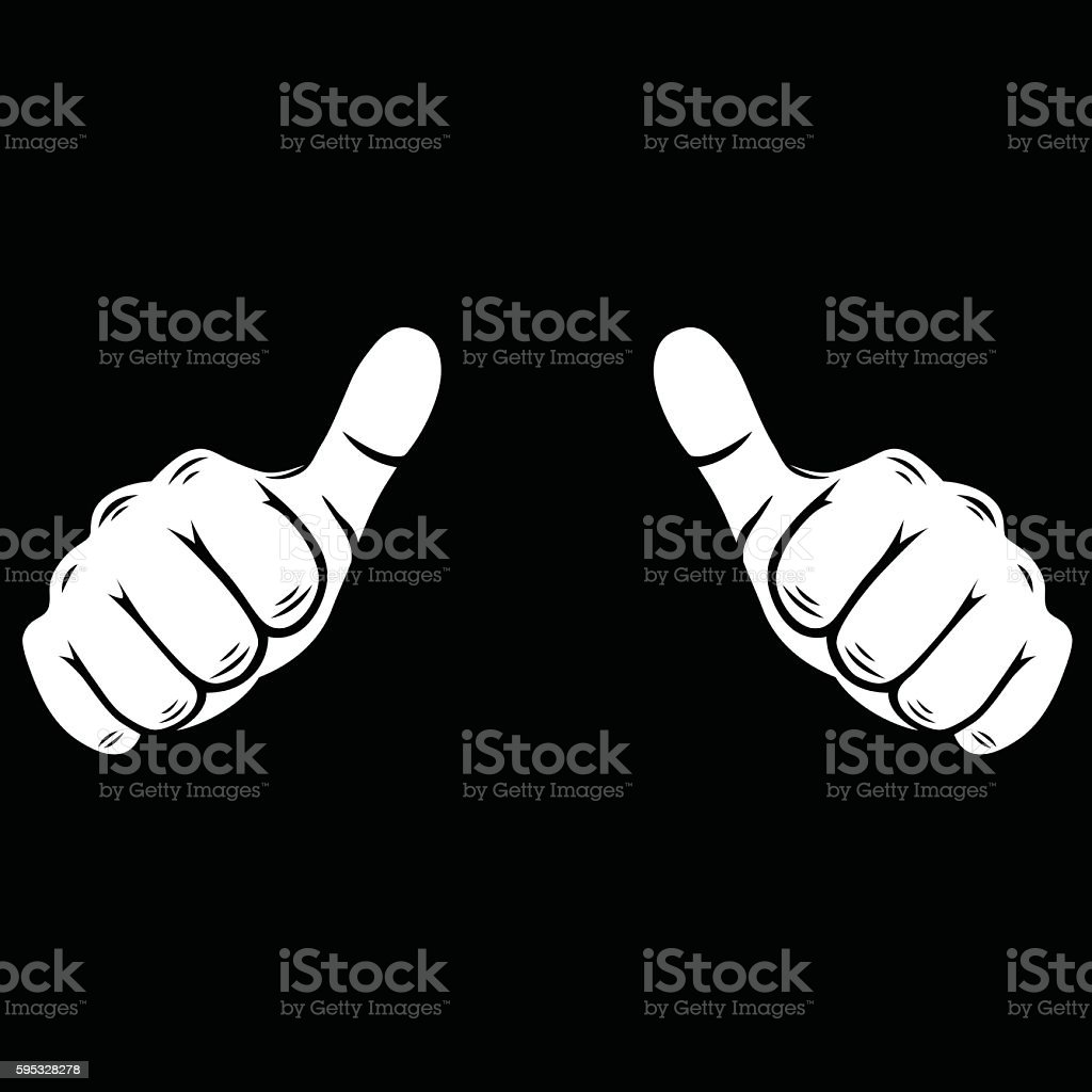 Thumbs up  Illustration - VECTOR vector art illustration