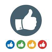 Thumbs Up Like flat Icon