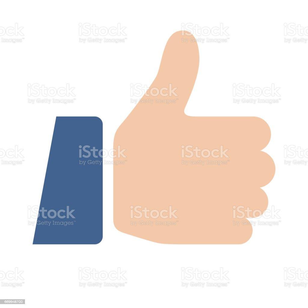 Thumbs Up Like Icon vector art illustration