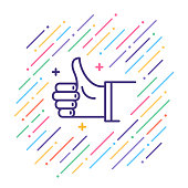 Thumbs Up Line Icon