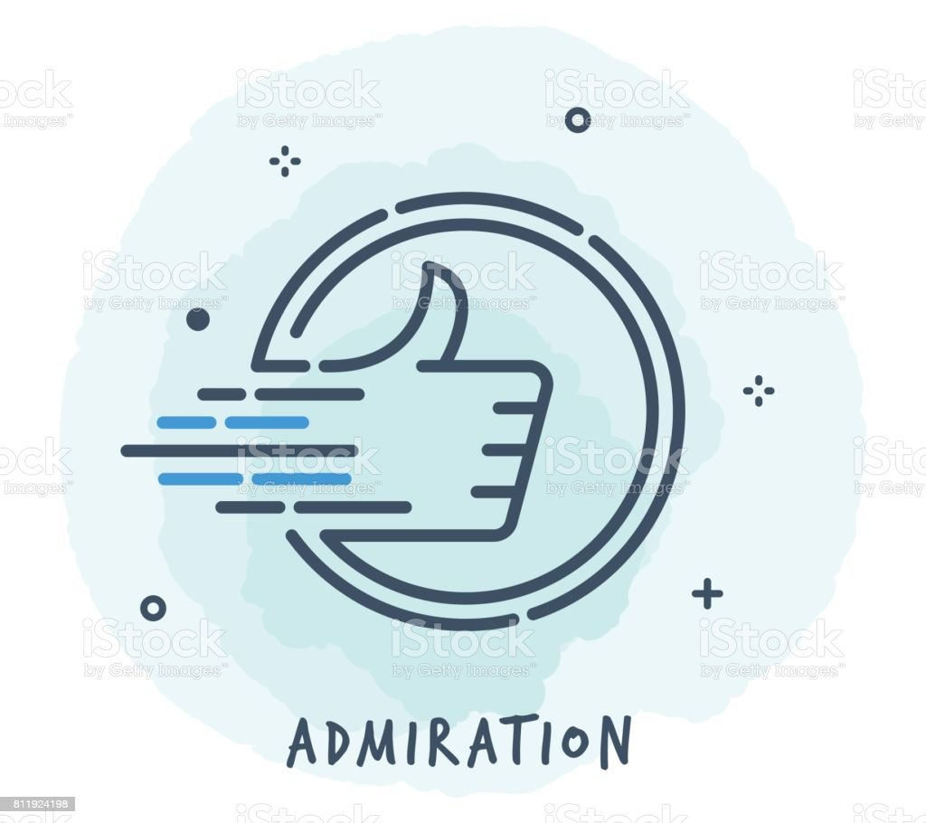 Thumbs Up Line Icon vector art illustration