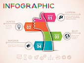 """Thumbs up social media modern Design flat design infographic template -€"""" can be used for infographics, banners, or other internet and  print graphics. EPS 10 file. Transparency effects used on highlight elements."""
