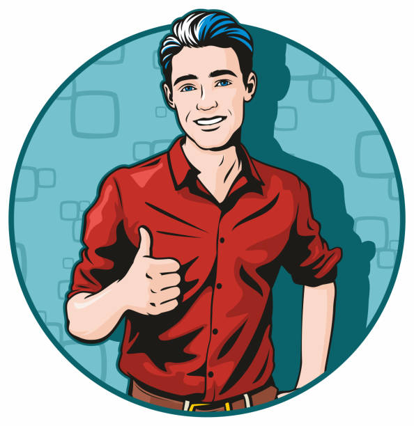 Thumbs Up vector art illustration