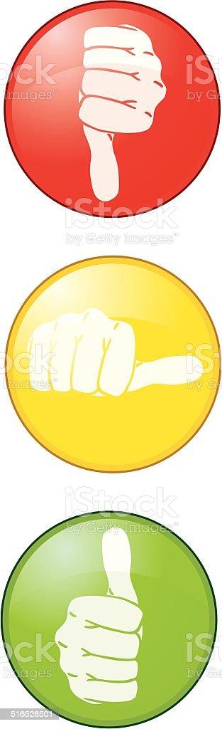 Thumbs Up! vector art illustration
