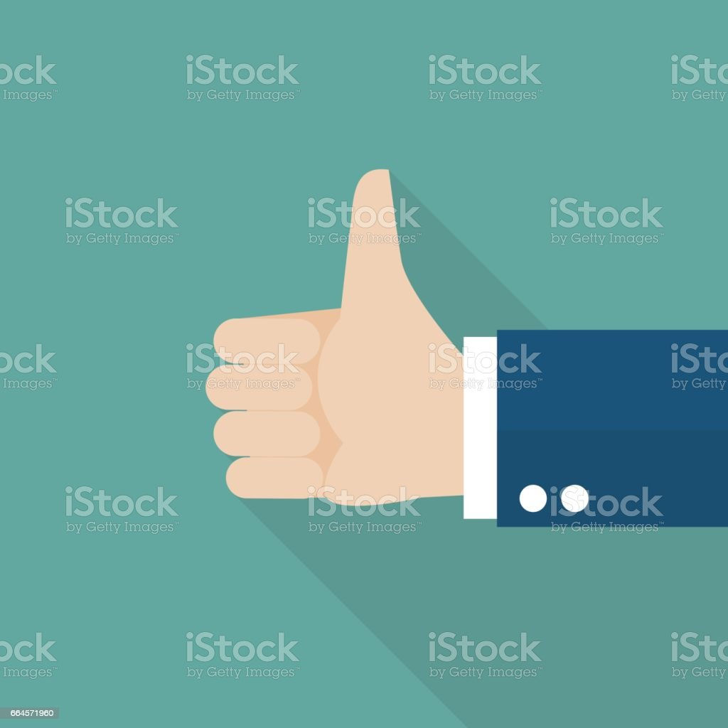 Thumbs up - arte vettoriale royalty-free di Accordo d'intesa