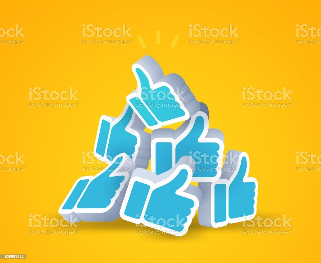 Thumbs Up vector art illustration