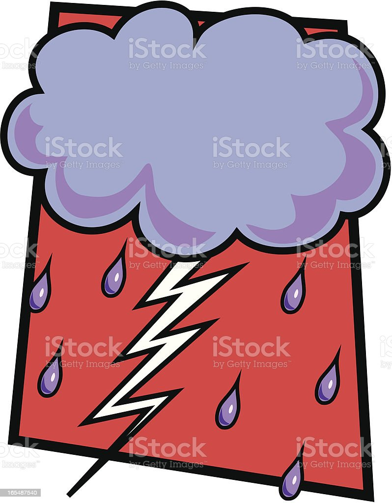 Thunder Cloud royalty-free stock vector art