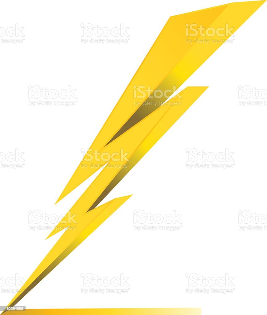 Thunder Electric Charge Symbol Icon Vector Stock Vector Art More