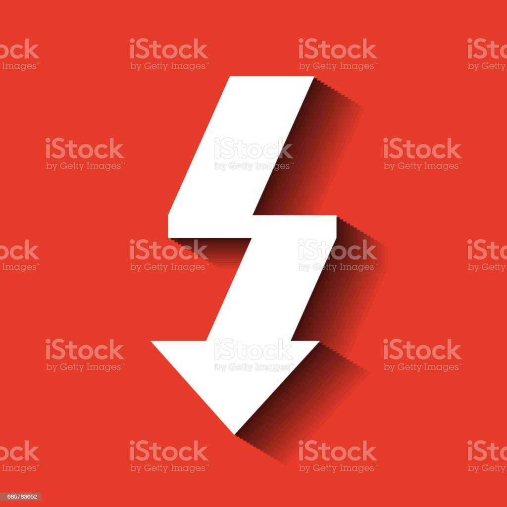 Thunder icon. Weather design. Vector graphic royalty-free thunder icon weather design vector graphic stock vector art & more images of abstract