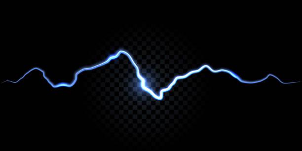 stockillustraties, clipart, cartoons en iconen met donder vonk, elektrische flash vector achtergrond. elektriciteit thunderbolt wit en blauw spark abstract effect achtergrond - elektriciteit