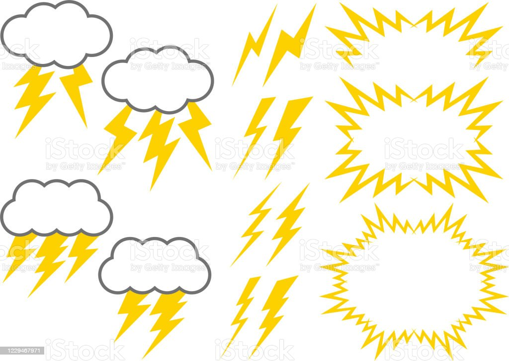 thunder vector illustration material collection stock illustration download image now istock https www istockphoto com vector thunder vector illustration material collection gm1229467971 362173385