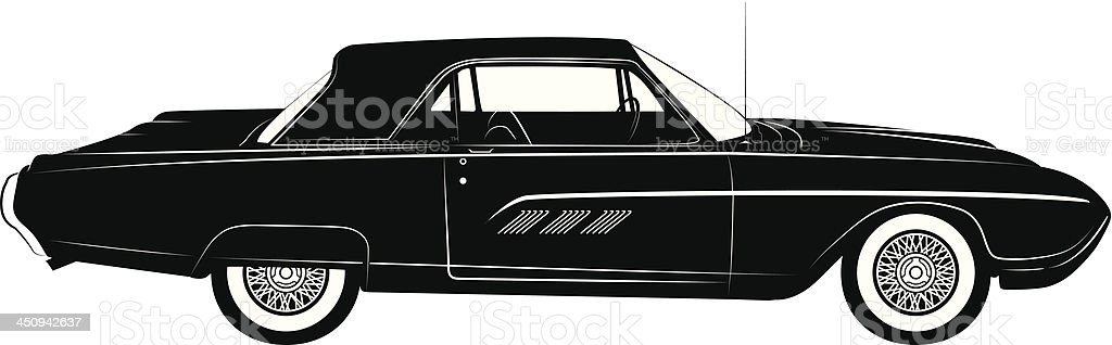 Thunderbird Classic Car Silhouette Stock Vector Art More Images Of