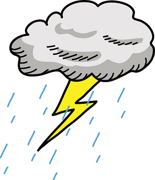 Royalty Free Rain Storm Clip Art, Vector Images ...