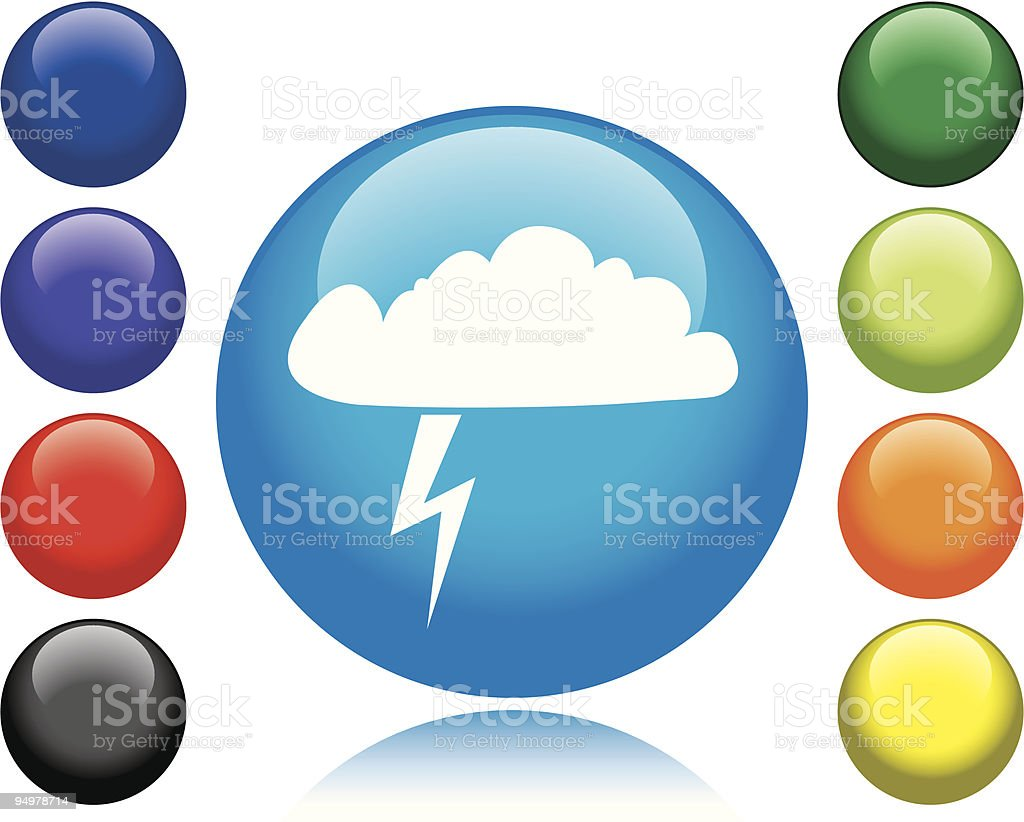 Thunderstorm Icon vector art illustration