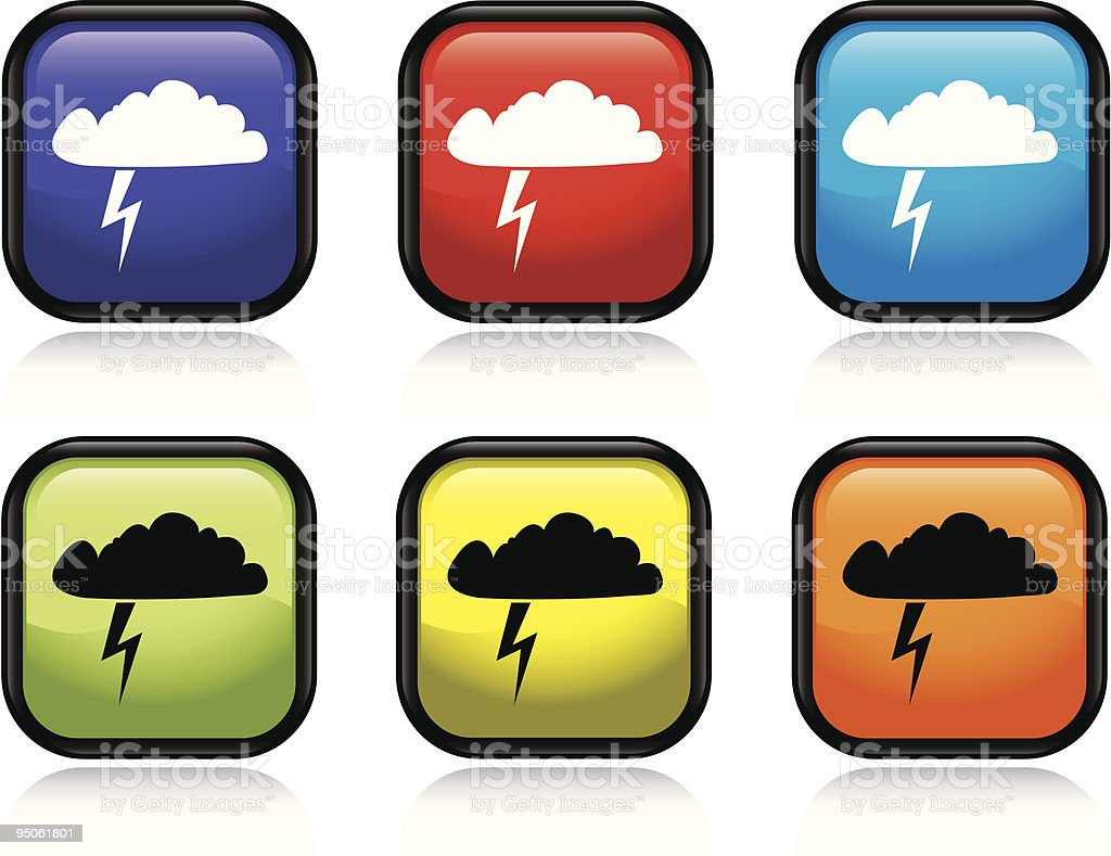 Thunderstorm Icon royalty-free thunderstorm icon stock vector art & more images of black color