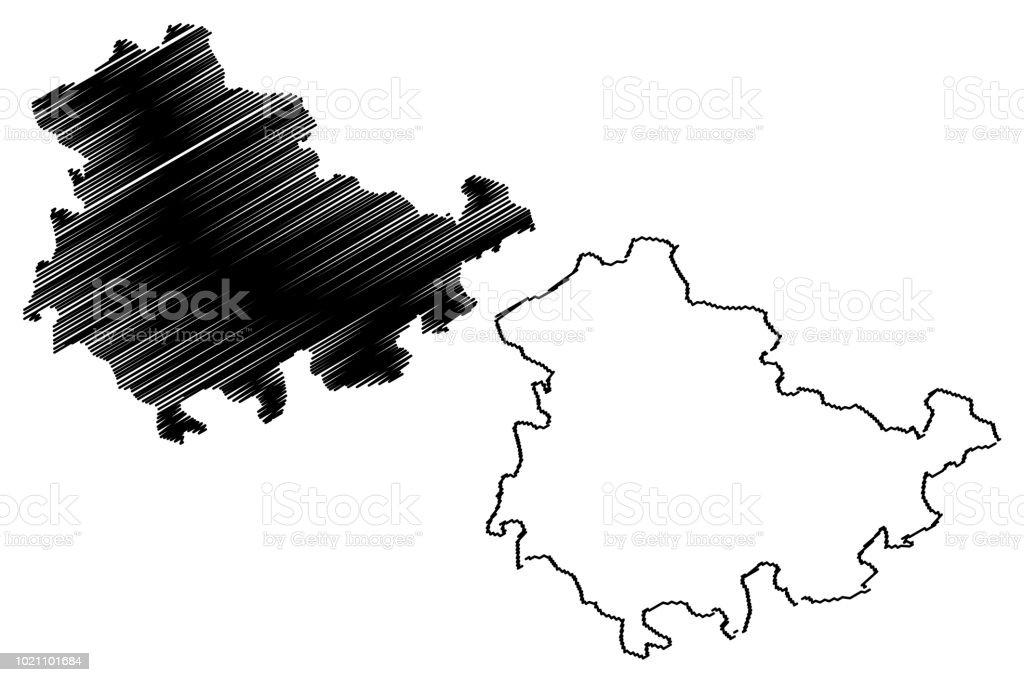 Carte Allemagne Thuringe.Vecteur De Carte De Thuringe Cliparts Vectoriels Et Plus D Images