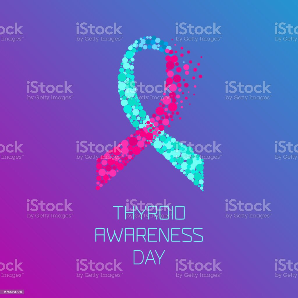 Thyroid Awareness Ribbon Stock Illustration Download Image Now Istock