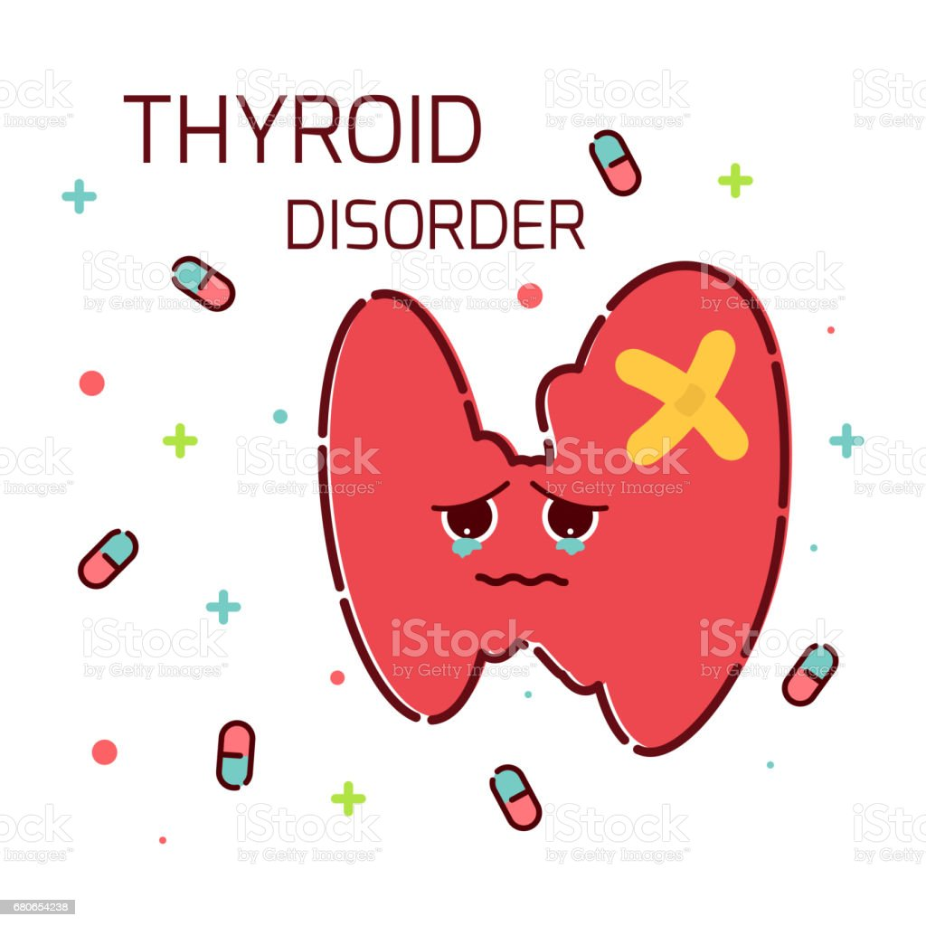 Thyroid Gland Disorder Icon Stock Illustration Download Image