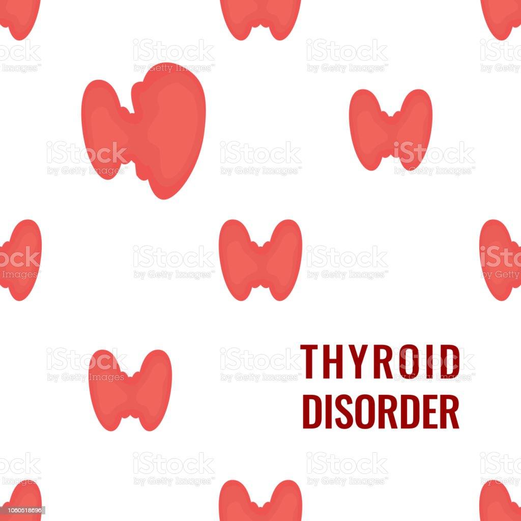Thyroid gland pattern medical poster on white background векторная иллюстрация