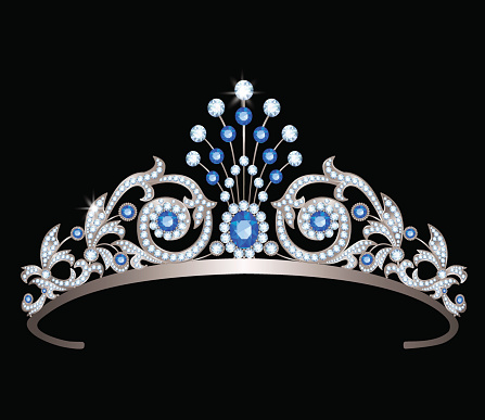 tiara with sapphires