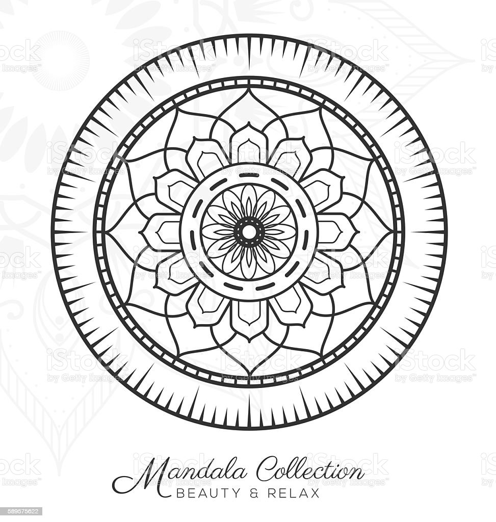 Abstract Adult Boho Book Chakra Tibetan Mandala Decorative Ornament Design
