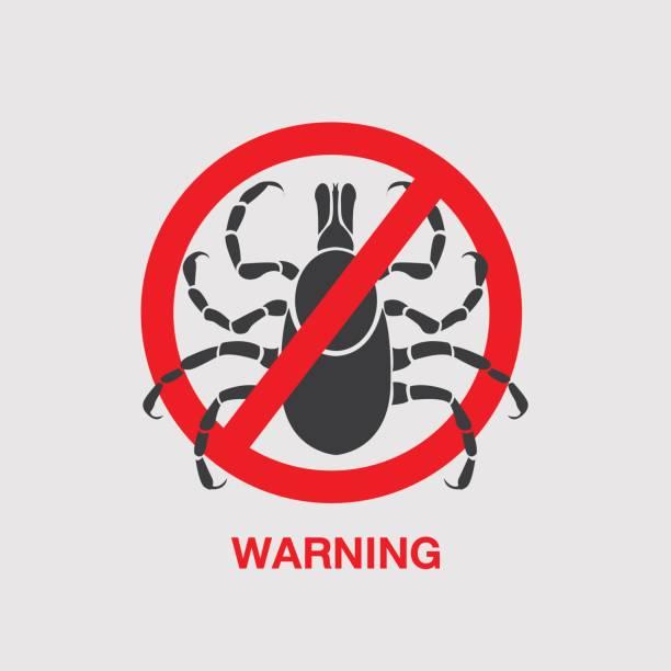 tick borne diseases vector icon icon design vector art illustration