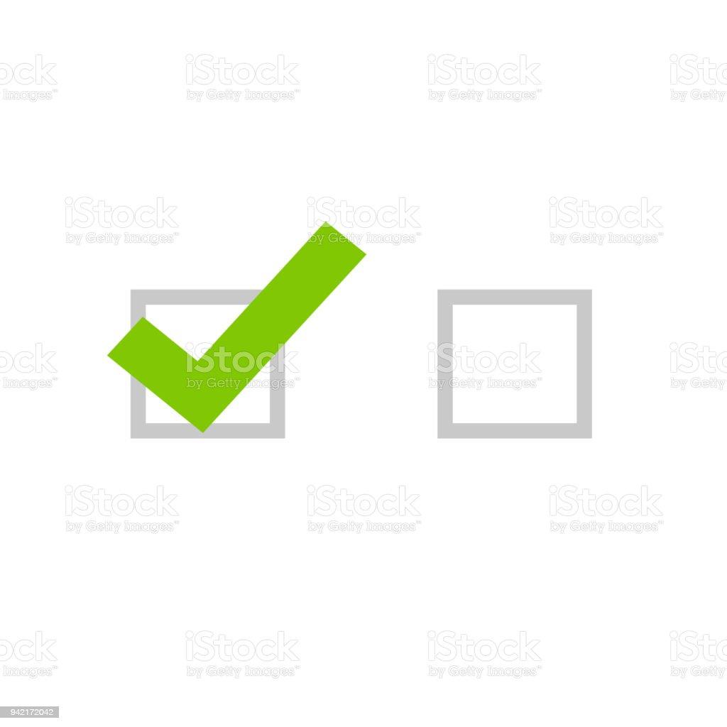 Tick icon vector symbol flat cartoon green checkmark isolated on tick icon vector symbol flat cartoon green checkmark isolated on white background checked and biocorpaavc Gallery