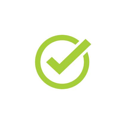 Tick Icon Vector Symbol Green Checkmark Isolated Checked Icon Or Correct Choice Sign Check Mark Or Checkbox Pictogram - Stockowe grafiki wektorowe i więcej obrazów Aprobować