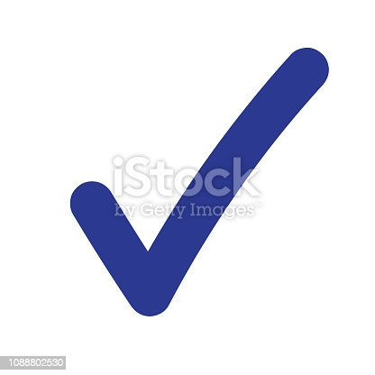 Tick icon vector symbol