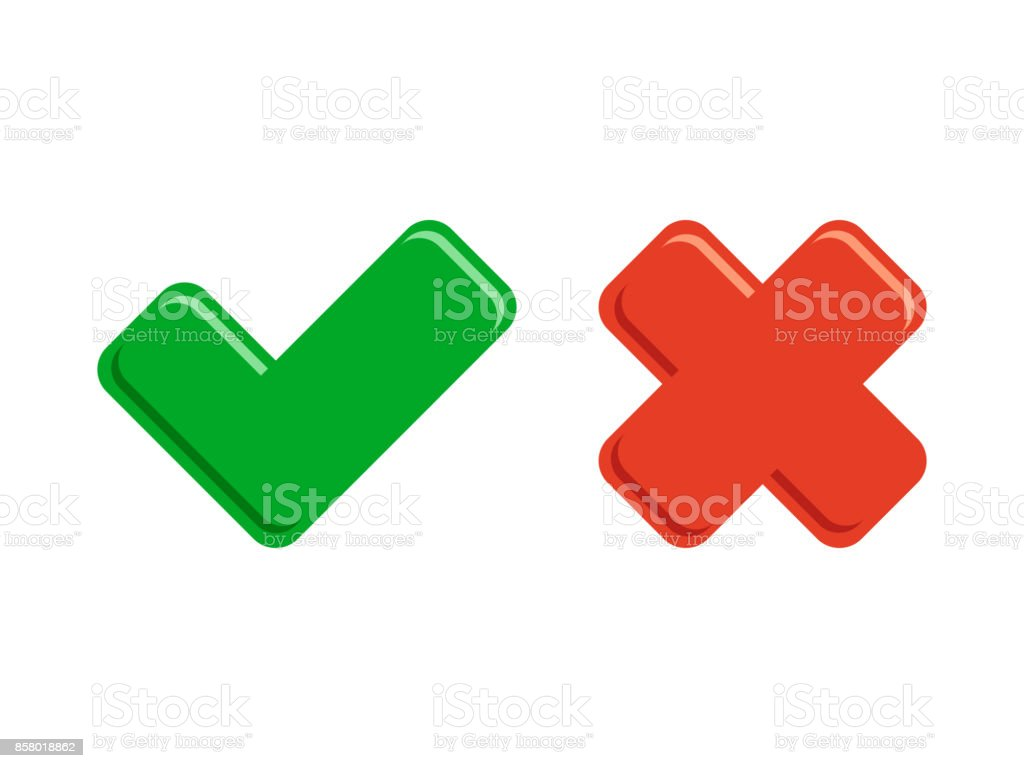 Tick icons check button vector art illustration