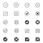 Tick mark icon set