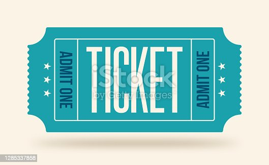 Blue admit one ticket for event or program access.