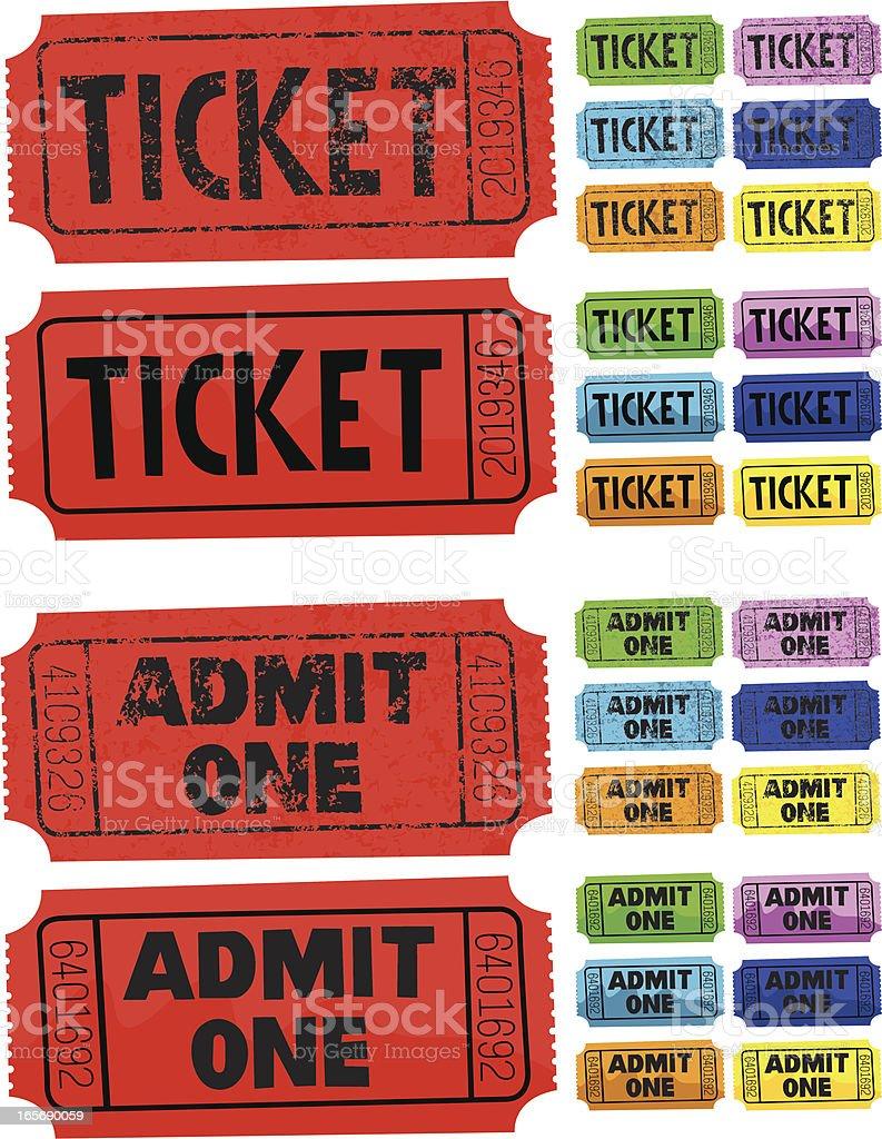 Ticket Admit One vector art illustration