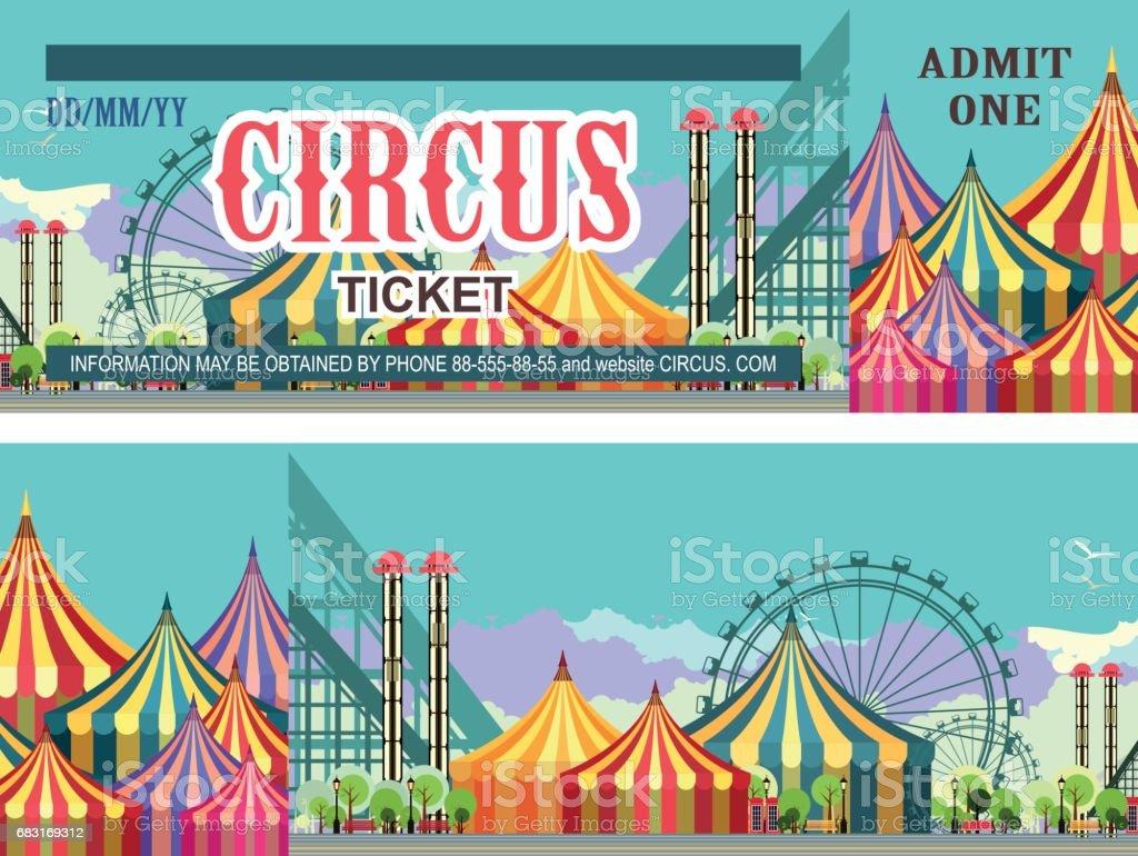 Ticket amusement park - Illustration vectorielle