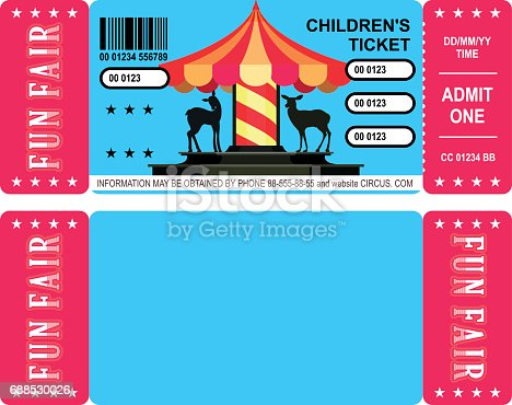 Ticket for entertainment and entertainment for children and adults for a fun fair with roundabouts and attractions