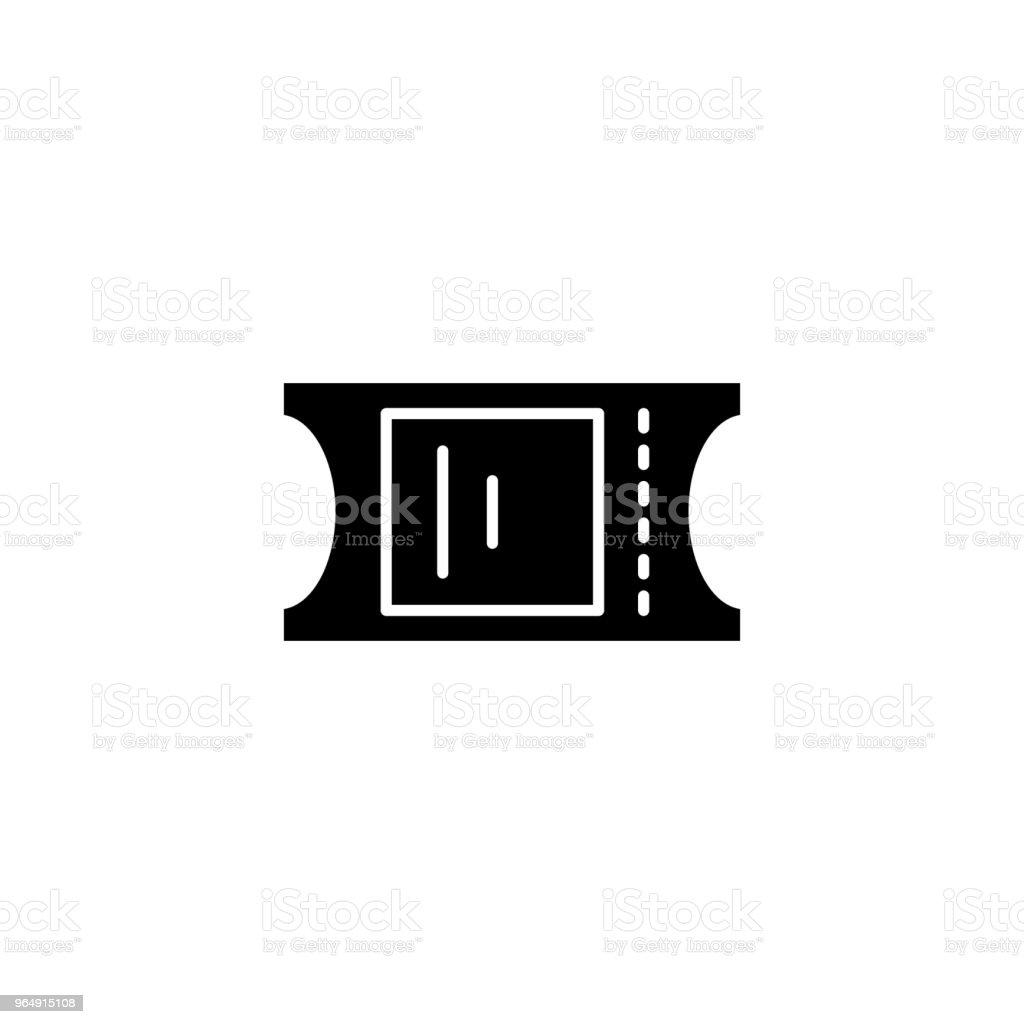Ticket black icon concept. Ticket flat  vector symbol, sign, illustration. royalty-free ticket black icon concept ticket flat vector symbol sign illustration stock vector art & more images of accessibility