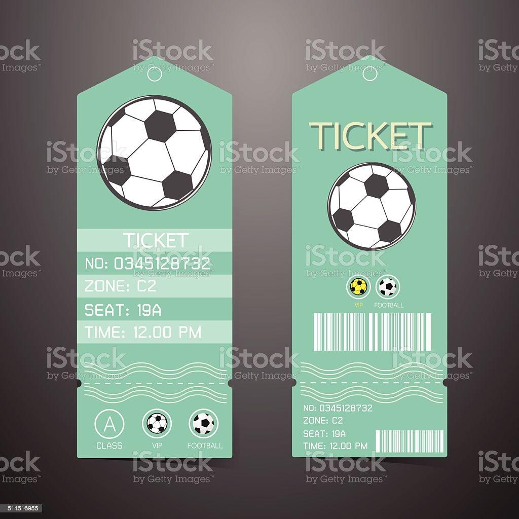 ticket design template concept of football stock vector art more