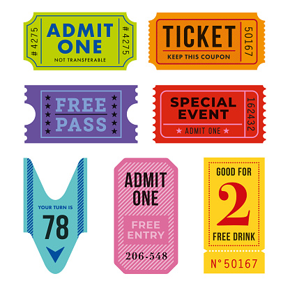 Ticket for event or program access.