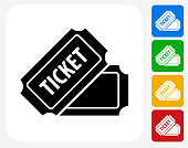 Ticket Icon Flat Graphic Design