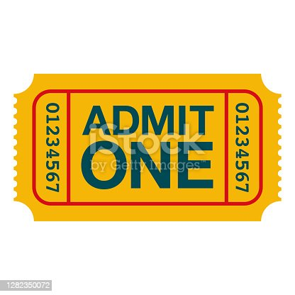 istock Ticket Icon on Transparent Background 1282350072