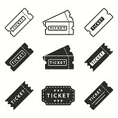 Ticket icon set.