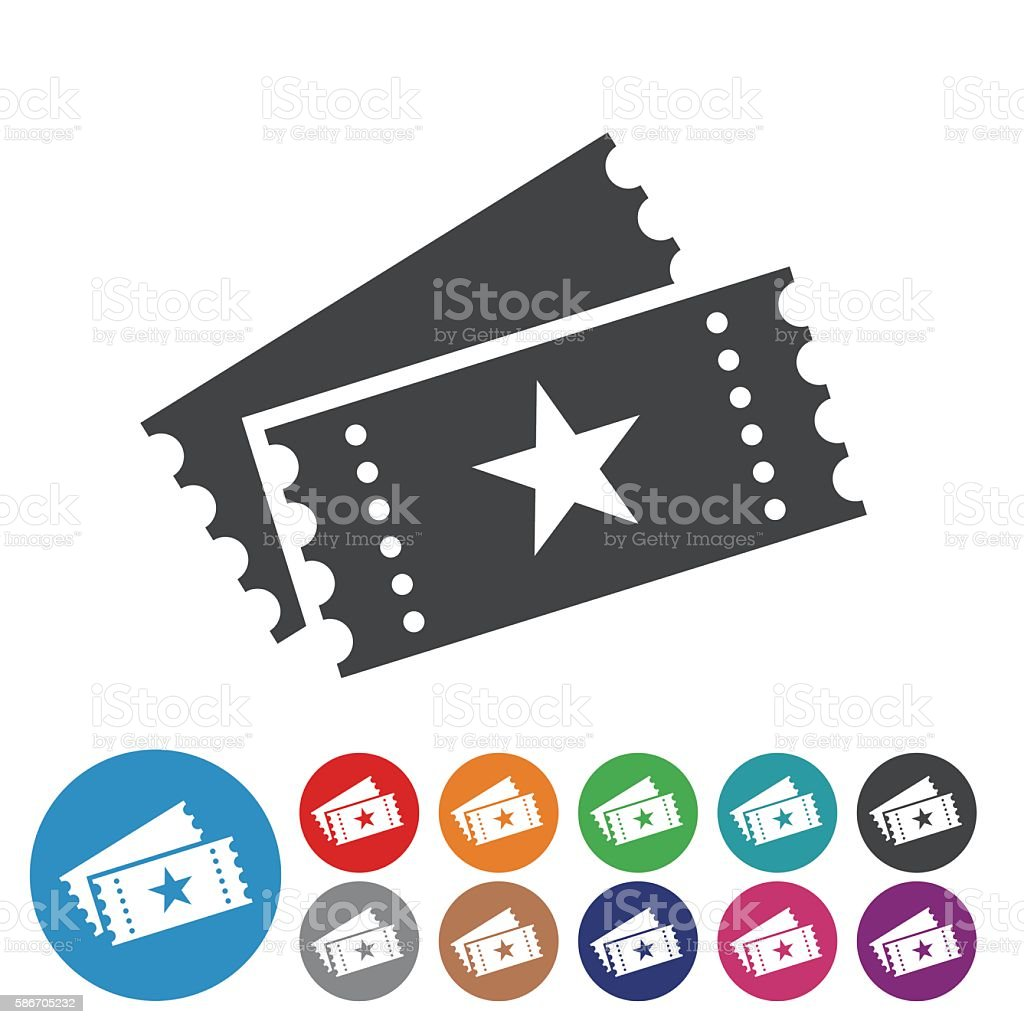 Ticket Icons - Graphic Icon Series vector art illustration