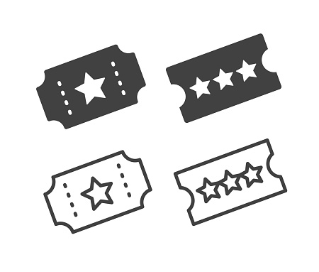Ticket - Illustration Icons