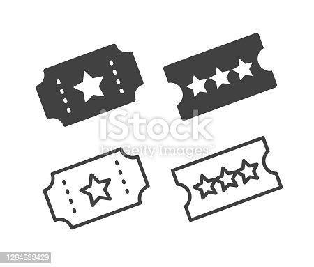 istock Ticket - Illustration Icons 1264633429