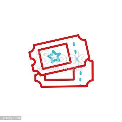 istock Ticket line icon. Editable Stroke 1294822145